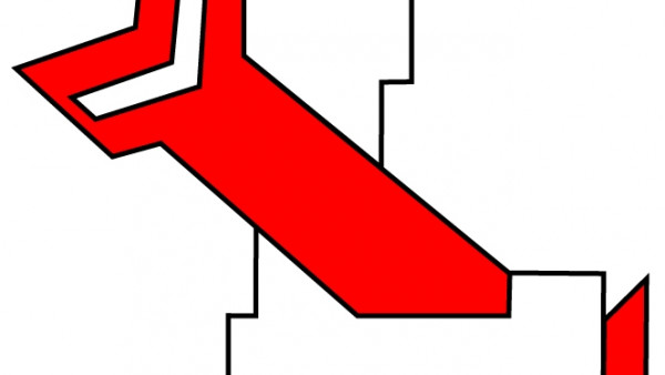White L with Red Arrow_thick stroke