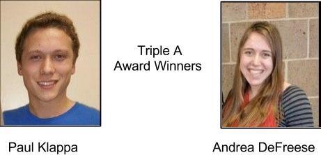 Klappa & DeFreese named AAA Award Winners