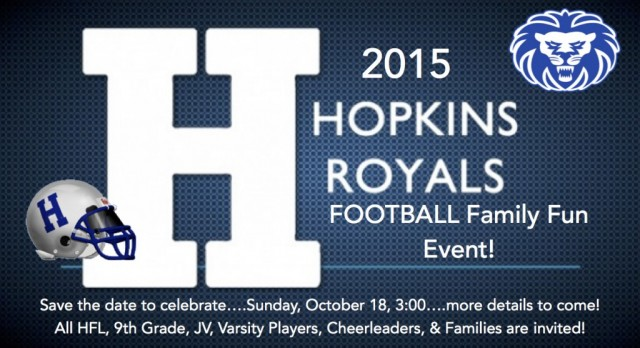 2015 Hopkins Royals Football Family Fun Event