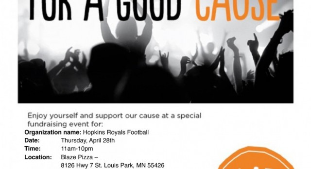 Football Fundraiser on April 28th