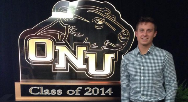 Alumni Spotlight: Fleming caps 4-year Varsity career at ONU as Clyde Lamb Award recipient