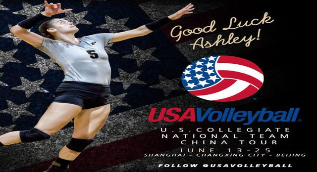 Alumni Ashley Evans Off to China Team USA!!!