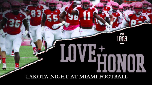 """Lakota"" Night at Miami University Football Game on September 5"