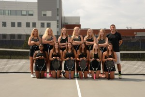 varsity girls tennis team