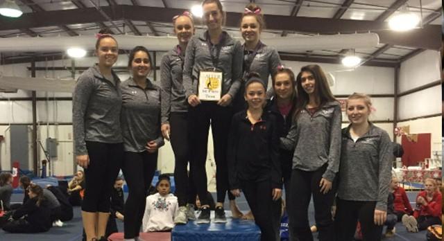 Gymnastics Wins Alter Quad Meet to Open Season