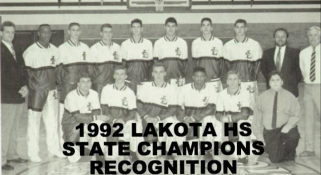Lakota East to Recognize 1992 Lakota Boys Basketball State Champions