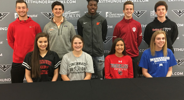 East Student Athletes Sign College Commitments