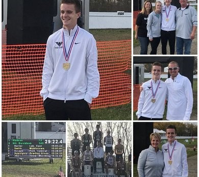 DUSTIN HORTER 2x STATE CROSS COUNTRY CHAMPION!!!