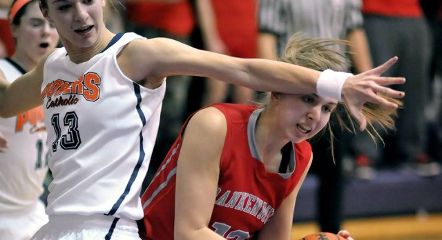Frankenmuth High School Basketball Varsity Girls falls to Powers Catholic High School 37-57