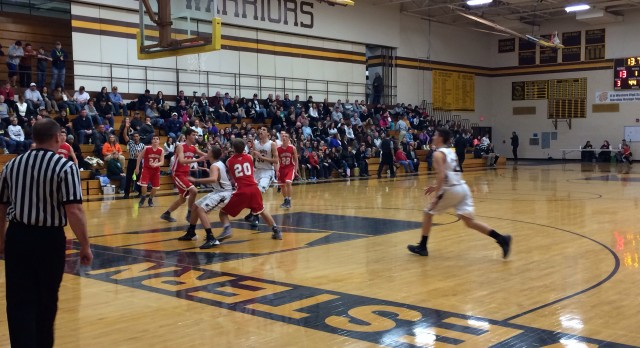 Frankenmuth High School Basketball Varsity Boys falls to Bay City Western High School 46-64