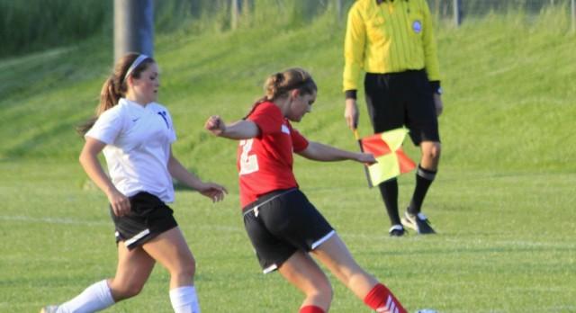 Frankenmuth High School Girls Varsity Soccer falls to Flushing High School 0-2