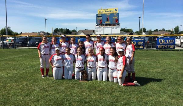 Frankenmuth High School Varsity Softball beat Swan Valley High School 12-6