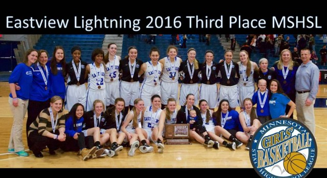 Eastview Basketball Takes 3rd Place at 2016 State Tournament with Victory over White Bear Lake 53-48. Get Up!