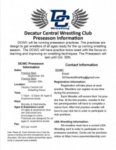 DCWC Flyer Preseason 2017