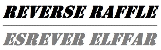 2015 REVERSE RAFFLE – OCTOBER 24, 2015!