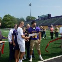 Ribbon cutting at the new turf field
