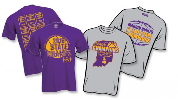 Get your state champs t shirts now marion high school for High school basketball t shirts