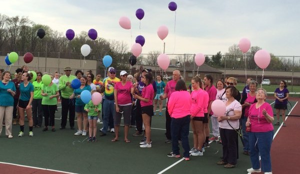 Marion and Madison-Grant Tennis Teams #SmashCancer