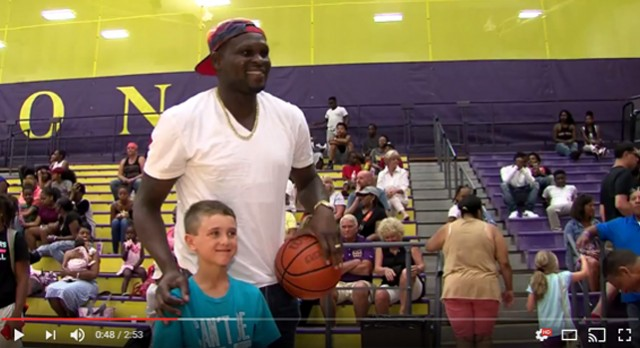 VIDEO: Z-Bo at the Giant Challenge (WIWU-TV)