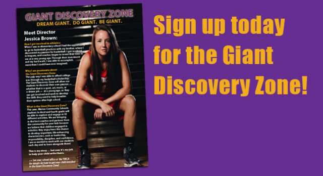 Sign up TODAY for the Giant Discovery Zone after-school program!