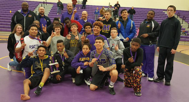 Varsity Wrestling finishes 1st place