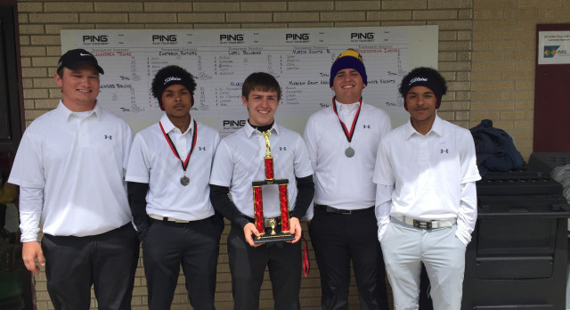 Boys Varsity Golf finishes 1st place @ Eastbrook Invite