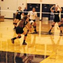 JV volleyball against John Glenn