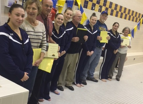 Girls Swimming Honors Most Influential Teachers