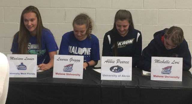 GHS Signing Day: Lady Bulldogs dominate 1st round of college commits