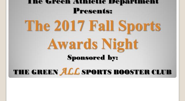 2017 Fall Sports Awards Night Information