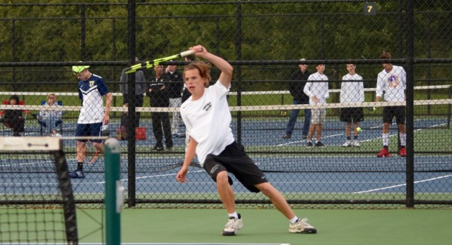 Boys Tennis falls to Carmel in Sectionals