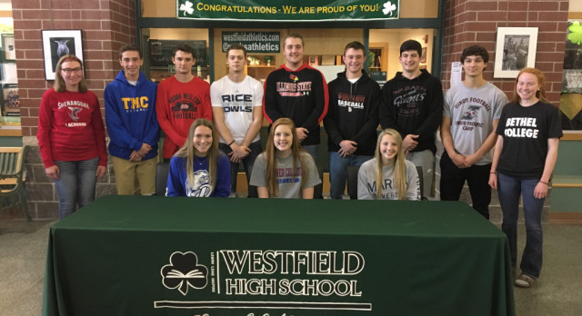 12 Student Athletes Sign Commitment Letters