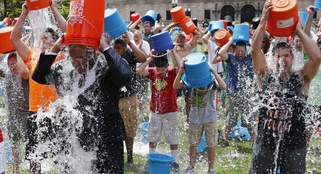 Beech Grove #ALSicebucketchallenge – tonight at the football game!