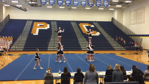 Competitive Cheer: 2nd at Portage Central Invitational
