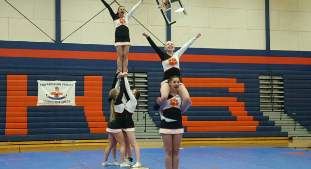 Competitive Cheer: Wolverine Conference Meet at Edwardsburg