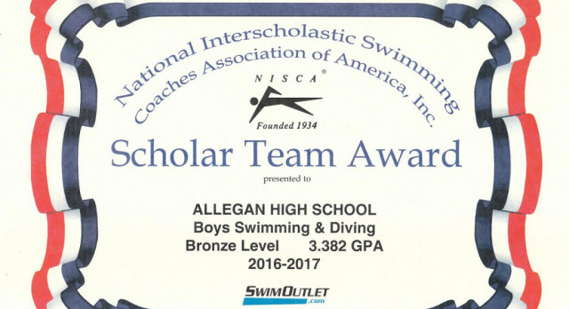 Boys Swimming: Tigers named National Scholar Team