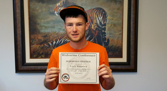 Baseball: Sousley selected All-Conference