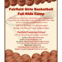 Fairfield Girls Basketball Kids Camp Oct 2017