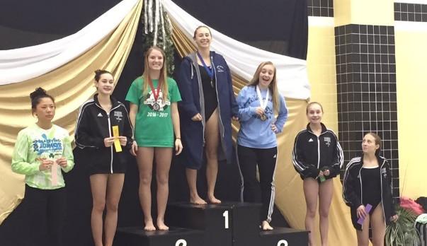 Malloy NIC Champion Diver, Girls take 4th place