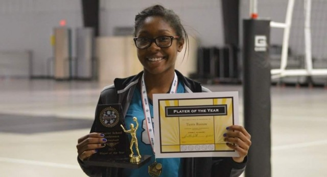 Charter School Conference Varsity Volleyball MVP (Tierra Russaw)