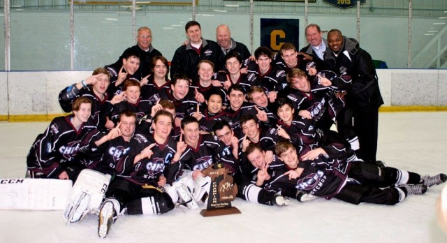 Okemos 5, Pinkney 2:  Okemos Hockey Regional Champs