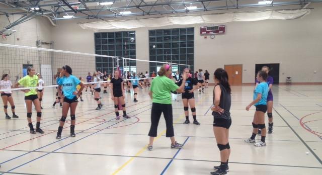Okemos Volleyball Tryouts Underway
