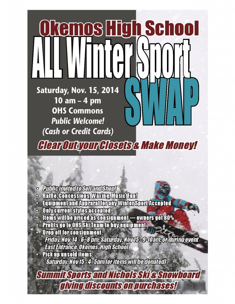 OHS ALL Winter Sports Swap Flyer 2014