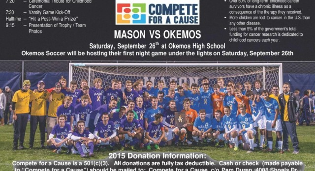 """""""Compete for a Cause"""" soccer game set for September 26th under the lights"""