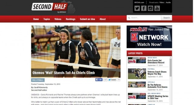"""OHS Volleyball featured on MHSAA """"Second Half"""" website"""