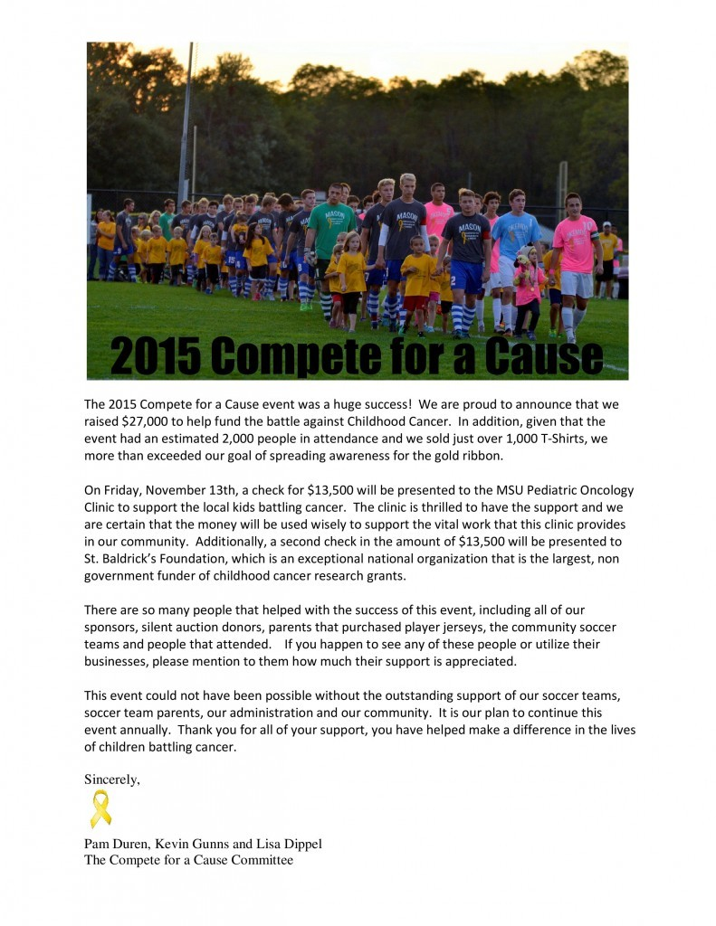 Compete for a Cause Okemos