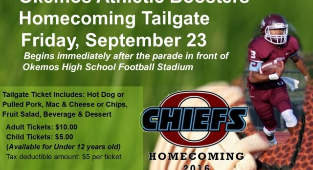 Tickets on sale now for Okemos Athletic Boosters Homecoming Tailgate