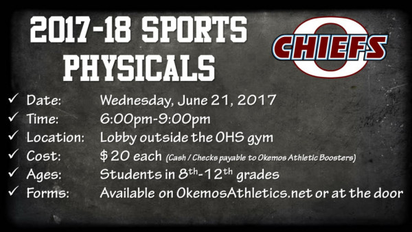 2017-18 Sports Physicals Flyer