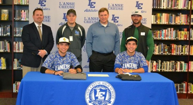 Lancers Sign With Adrian for Baseball