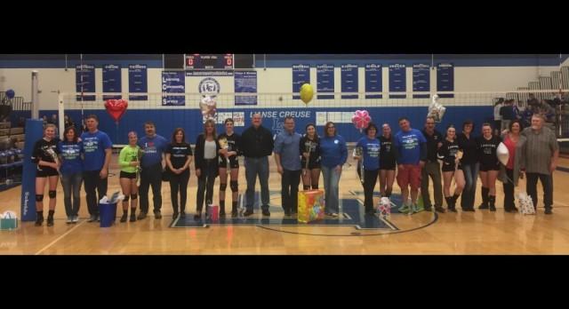 Volleyball Shines on Senior Night